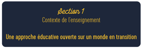 Section 1 Contexte